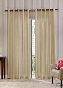 Cortina Rústica Latte 260x170 cm