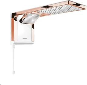 Ducha Acqua Duo Ultra Branco/Rose Gold 7800W 220V - Lorenzetti - Lorenzetti