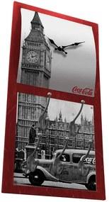 Relógio Coca-Cola Landscape Londres com Ganchos em MDF - Urban