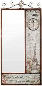 Espelho Facet Eiffel Paris com Relógio Oldway - 189x90 cm
