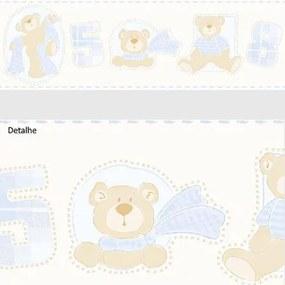 Faixa De Parede Ursos Azul Claro 3208