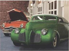 Placa Decorativa Hot Verde e Laranja Média em Metal - 30x20cm