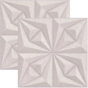Revestimento Drapeado Beton Acetinado Retificado 58x58cm - 66072 - Ceusa - Ceusa