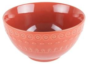 Jogo Bowl Porcelana 6 Peças Grace Carmim 15cm 17584 Wolff