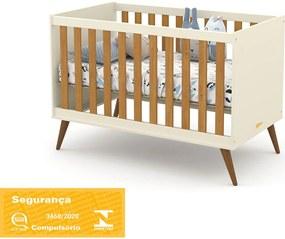 Berço Gold Off White/Freijó/Eco Wood Matic Móveis