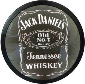 Luminoso Jack Daniels Preto - Bivolt - em Alumínio com LED - 30x4 cm