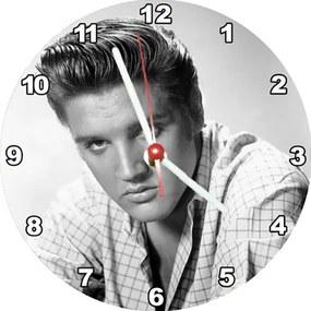 Relógio Decorativo Elvis Branco e Preto