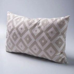 Almofada Travesseiro em Tecido Algodão Tramado - Enchimento fibras siliconizadas.