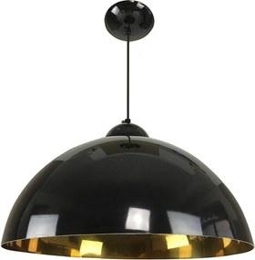 Pendente Esfera 40cm Preto/Ouro - Caisma - 3714-PR/OU
