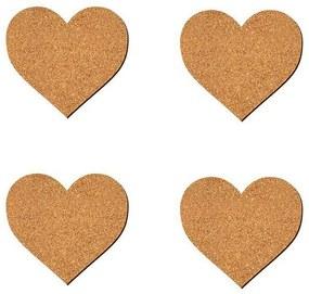 Porta Copos Coração - Cortiça