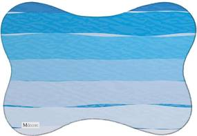 Tapete PET Mdecore Listrado Azul 46x33cm