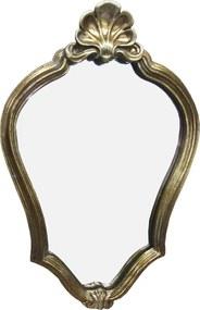 Espelho Clássico Provençal Folheado a Ouro 44 cm x 29 cm