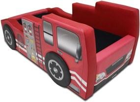 Mini Cama Bombeiro Cama Carro do Brasil Vermelho