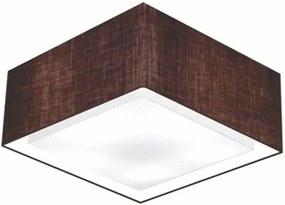Plafon Quadrado Md-3040 Cúpula em Tecido Dupla 30/70x70cm Marrom Café - Bivolt