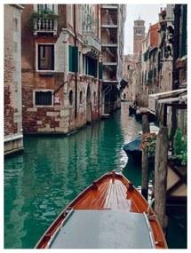 Quadro Decorativo Barco no Canal de Veneza - KF 49755 40x60 (Moldura 520)