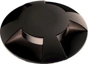 Balizador Embutir Preto Led 0,75W 2700K Ip65 Multifachos