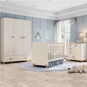 Quarto de Bebê Completo Fofuxo - Off White