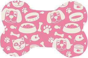 Tapete Wevans All Pets Pink Rosa