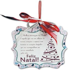 Placa Móbile Média A Melhor Mensagem de Natal em MDF
