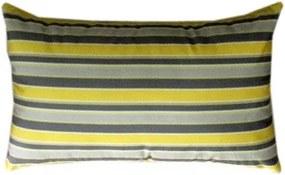 Capa almofada LYON Veludo estampado Listra Amarelo 30x50cm