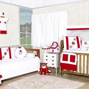 Quarto Completo Padroeira Baby Margarida Vermelho