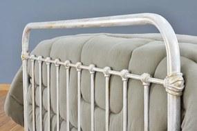 Cama de Ferro Patente Viuva Branca Envelhecido