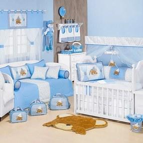Quarto de Bebê Menino Completo Soninho Azul - Branco