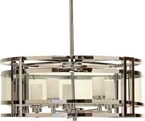 Lustre Pendente de Aço Inox Barumini Bivolt com 4 lâmpadas