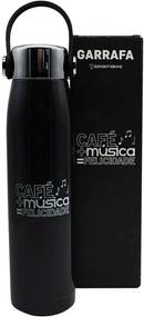 Garrafa Térmica 400 ml com Alça Café e Música