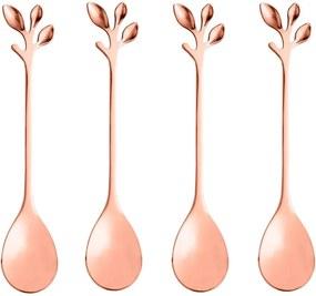 Jogo Colheres Para Chá 4 Peças Inox Leaves Rose 28295 Bon Gourmet