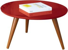 Mesa de Centro Sorelle Vermelho Pés Palito