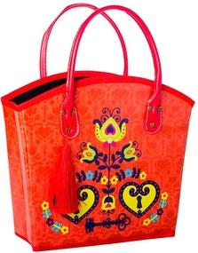 Revisteiro Realeza Chave Vermelho em Courino - 36x29 cm