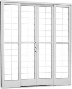 Porta de Correr Quadriculada Aço - 4 Folhas - Branco Kompacta 217x200x12cm - 26324505 - Sasazaki - Sasazaki