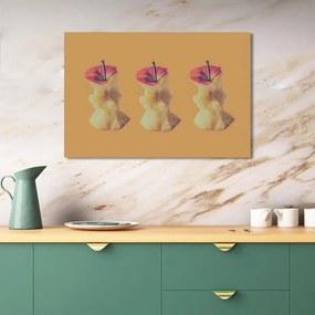 Quadro Decorativo de Parede Maçãs 86x60cm Cozinha Sala