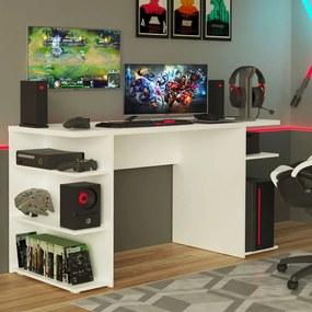 Mesa para Computador Gamer Madesa 9409 Branco Cor:Branco