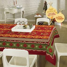 Toalha de mesa Retangular 6 lugares Natal - 036501