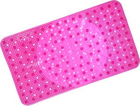 Tapete Box Antiderrapante Com Ventosa 34cm x 64cm - Rosa Pink