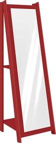Espelho Sashi C/ 2 Prateleiras Vermelho