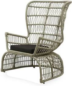 Poltrona Sierra Baixa Estrutura Aluminio Tramada em Corda cor Bege - 44670 Sun House