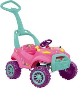 Carro a Pedal Smart Passeio Rosa Bandeirante - 462