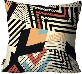 Almofada Premium Cetim Mdecore Geométrica Colorida 45x45cm