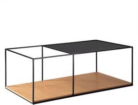 Mesa de Centro Square 130cm Aço Preto/Marfim - Gran Belo