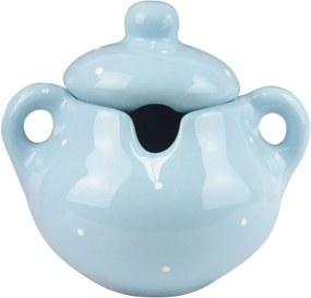 Açucareiro De Cerâmica - Azul Decorado