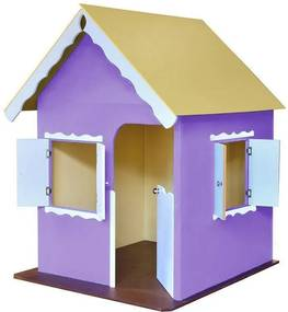 Casinha de Brinquedo com Pés Lilás/Branco - Criança Feliz