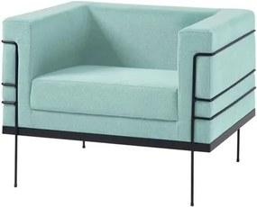 Poltrona Le Corbusier Azul Claro Base Preta - 50168 Sun House