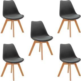Kit 5 Cadeiras Decorativas Sala e Escritório SelfCare (PP) Cinza - Gran Belo
