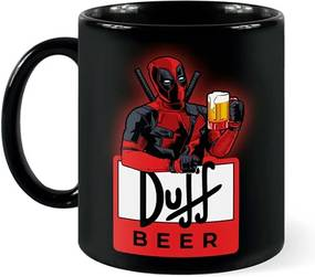 Caneca DeadPool Duff Beer Deadbeer