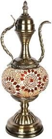 Abajur Ânfora com Mosaico Marrom 38cm