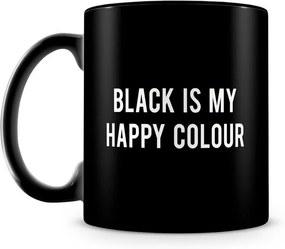 Caneca Personalizada Black is my Happy Colour (100% Preta)