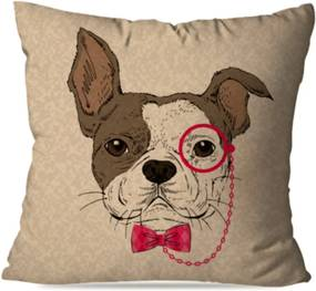 Almofada Avulsa Dog Glasses 35x35cm Love Decor